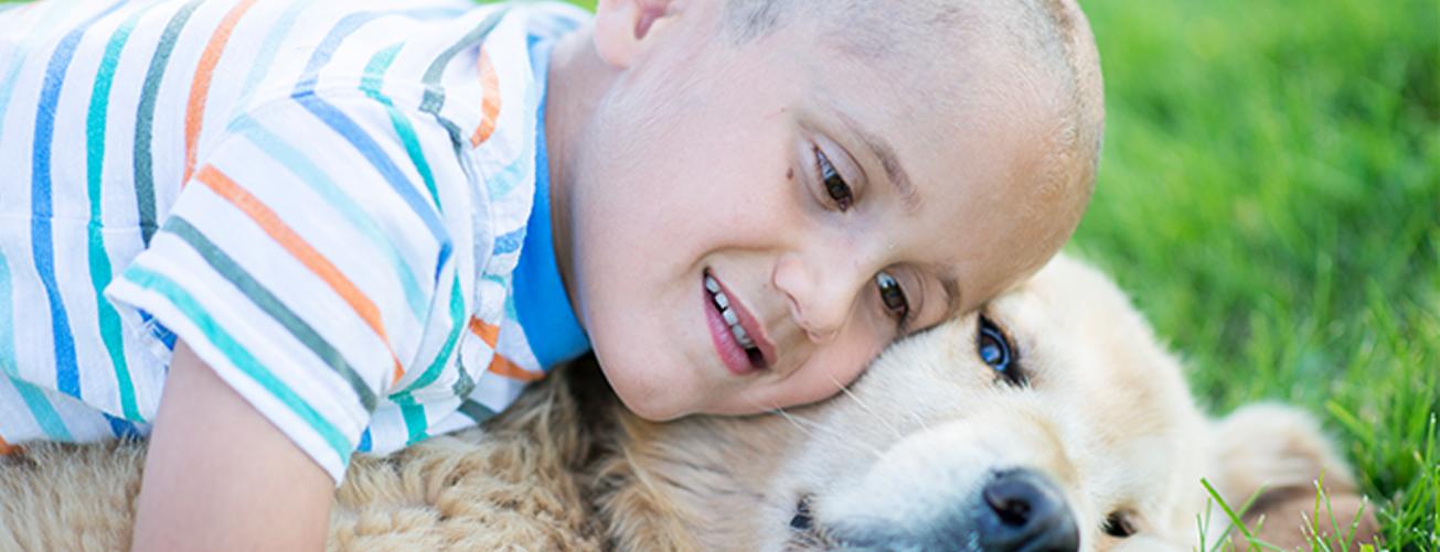 Ong une crianças e cachorros com o mesmo tipo de câncer
